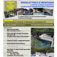 """Convegno CAI TAM """"Idroelettrico e Montagna"""", Bologna 16 giugno"""